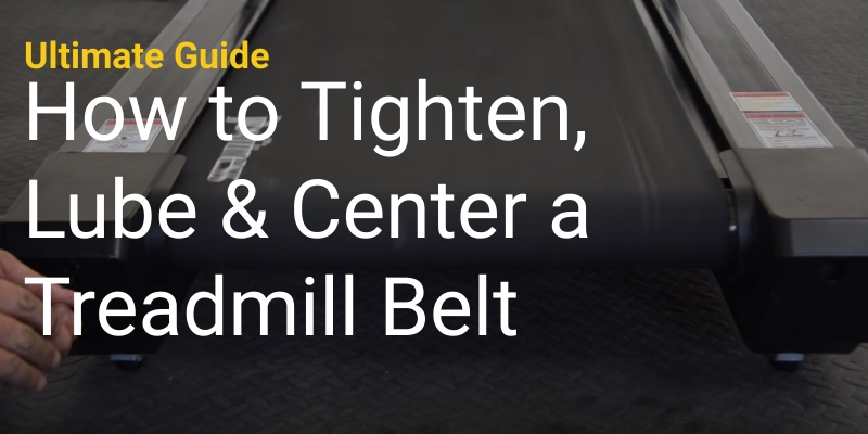 Cover-How to tighten-Lube-center a treadmill belt