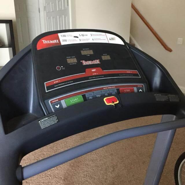 Triumph Treadmill 400T-console