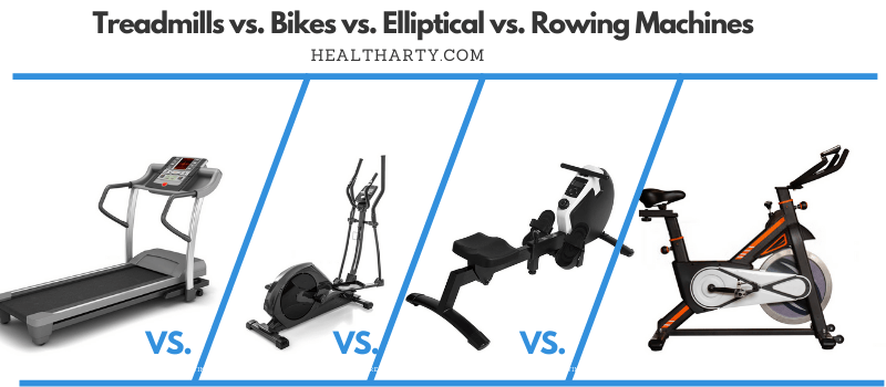 Treadmills vs. Bikes vs. Elliptical vs. Rowing Machines-Comparison-healtharty