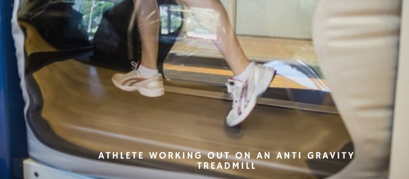 Athlete working out on an anti gravity treadmill-healtharty