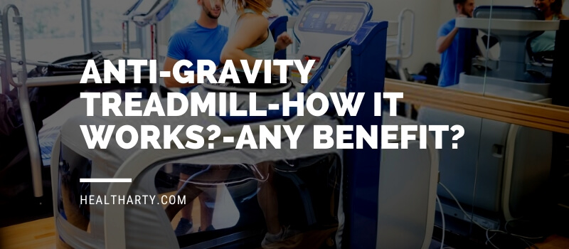 Woman using an anti gravity treadmill-healtharty