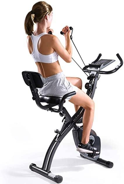 MaxKare Magnetic space saving stationary bike